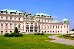 Belvedere Palace, Vienna Stock Images