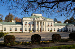 Belvedere Palace in Warsaw (Poland). Built in 1822. Belvedere is a residence of the President of Republic of Poland. Photo taken October 19, 2014 Royalty Free Stock Image