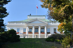 Belvedere Palace in Warsaw (Poland). Built in 1822. Belvedere is a residence of the President of Republic of Poland. Photo taken October 19, 2014 Royalty Free Stock Photography