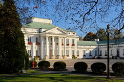 Belvedere Palace in Warsaw (Poland). Built in 1822. Belvedere is a residence of the President of Republic of Poland. Photo taken October 19, 2014 Royalty Free Stock Images