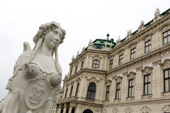 Belvedere palace woman statue Royalty Free Stock Photos