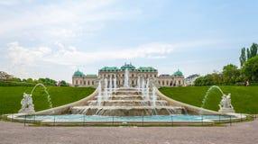 Belvedere-Palast-Garten Stockfotografie