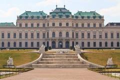 Belvedere-Palast, Wien, Österreich stockbilder