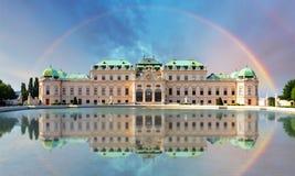 Belvedere-Palast in Wien - Österreich stockfotos