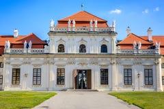 Belvedere-Palast, Wien, Österreich stockfotos