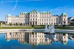Belvedere-Palast in Wien, Österreich Stockbilder