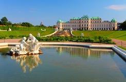 Belvedere-Palast in Wien Lizenzfreie Stockfotografie