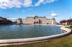 Belvedere-Palast in Wien Stockfotos