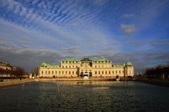 Belvedere Paleis 03, Wenen, Oostenrijk royalty-vrije stock foto's