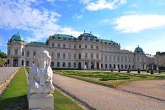 Belvedere paleis stock afbeelding