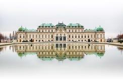 Belvedere Paleis in Wenen royalty-vrije stock foto's