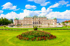 Belvedere Paleis in Wenen stock fotografie