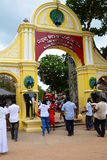 Belvedere Paleis in Wenen Devalayatempel van Ruhunumaha kataragama Kataragamameer Sri Lanka royalty-vrije stock foto