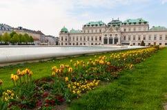 Belvedere paleis Wenen Oostenrijk Royalty-vrije Stock Foto's
