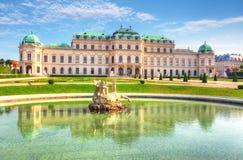 Belvedere Paleis in Wenen, Oostenrijk royalty-vrije stock afbeeldingen
