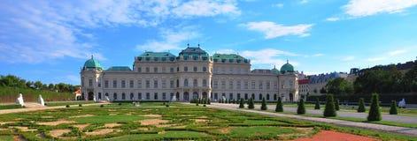 Belvedere, panoramic view. Vienna, Austria Royalty Free Stock Photos
