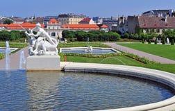 Belvedere park, Vienna, Austria Royalty Free Stock Photo