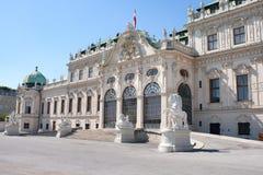 Belvedere-Schloss in Wien lizenzfreie stockfotos