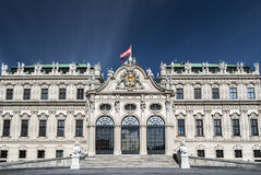 Belvedere-Schloss in Wien Lizenzfreies Stockfoto