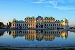 Belvedere-Schloss in Wien Stockfotografie