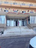 Belvedere Strandhotel Rhodos Griekenland Stock Foto