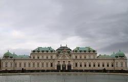 Belvedere superiore del palazzo storico a Vienna Fotografia Stock