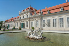 Belvedere Unteres Castle park - Vienna Royalty Free Stock Photo