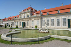 Belvedere Unteres Castle park - Vienna Royalty Free Stock Photography