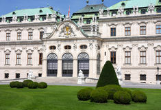 Belvedere in Vienna, Austria Royalty Free Stock Photography