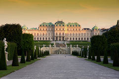 Belvedere in Vienna, Austria Stock Photo