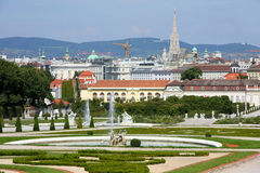 Belvedere in Vienna, Austria Royalty Free Stock Images