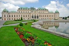 Belvedere Vienna Austria del palazzo Fotografie Stock Libere da Diritti