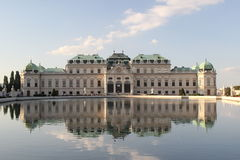 Belvedere Vienna, Austria. Historical Belvedere in Vienna, Austria. Monumental with mirror view in the water Stock Image