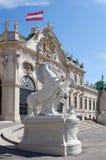 Belvedere a Vienna; L'Austria fotografie stock