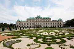 Belvedere in Wenen royalty-vrije stock foto's