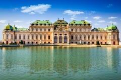 Belvedere Wien Österrike fotografering för bildbyråer