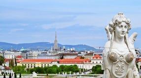 Belvedere in Wien Stock Afbeeldingen