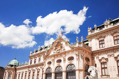 Belvederen är ett historisk byggnadkomplex i Wien, Österrike Fotografering för Bildbyråer