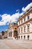 Belvederen är ett historisk byggnadkomplex i Wien, Österrike Arkivfoton