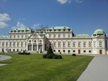 Belvedereschloss in Wien/in Österreich Lizenzfreies Stockfoto