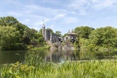 Belvedereslott i Central Park, NYC Arkivbilder