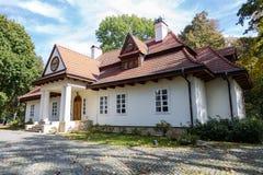 Belvedereslott i Sieniawa i Polen Arkivbilder
