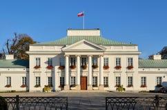 Belvedereslott i Warszawa (Polen) arkivfoton