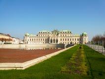 Belvedereslott i Wien Royaltyfria Foton