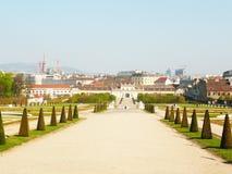 Belvedereslott i Wien Arkivbilder