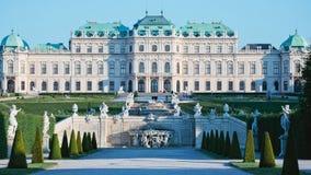 Belvedereslott och trädgårdar royaltyfri bild