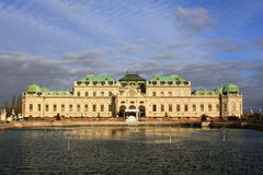 belvedereslott vienna för 04 Österrike Royaltyfri Foto