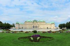 Belvedereslott, Wien, Österrike Arkivfoto