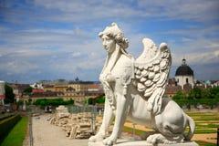 belvederesphinx vienna Royaltyfria Foton