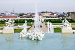 belvedereträdgårdar Arkivfoto